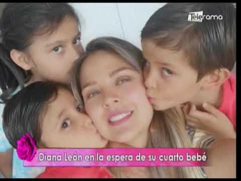 Diana León en la espera de su cuarto bebé