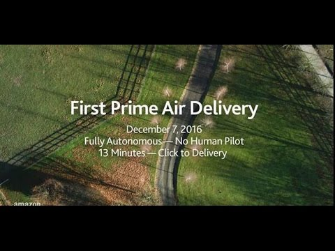Amazon Prime Air  s First Customer Delivery