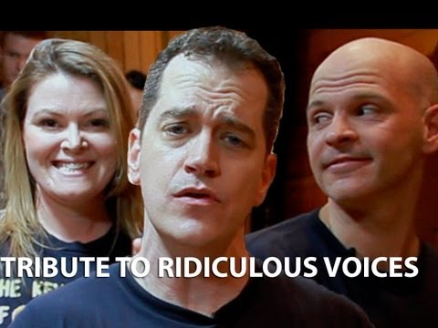 Tribute to Ridiculous Voices - Key of Awesome