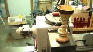 #21 Natual Edge Chalice with 2 Captive rings and twisted Stem (Tutorial)