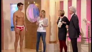 Jockey retro y-front mens underwear and Sloggi basic maxis on This morning with Phil and Fern Video