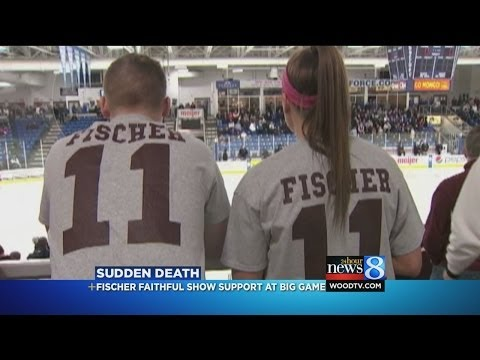 Fans Remember Grandville Hockey Player - Ryan Fischer courtesy of WOOD-TV 8