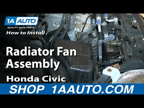 How To Install Remove Replace Radiator Fan 1992-98 Honda Civic and Del Sol