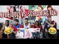 Download Lagu KPOP IDOLS vs FANS SCREAMS 1   BTS EXO BLACKPINK TWICE GOT7 REACTION/REVIEW Mp3 Free