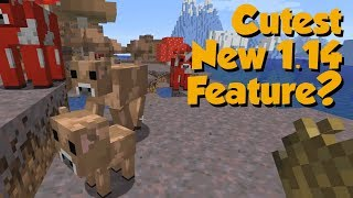 Minecraft 1.14 New Snapshot Ft. New Mob* & Custom Horse Armor