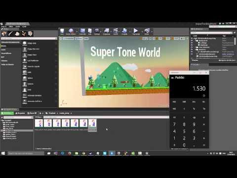 Super Mario World Unreal Engine 4 BR ! Sprites animate..