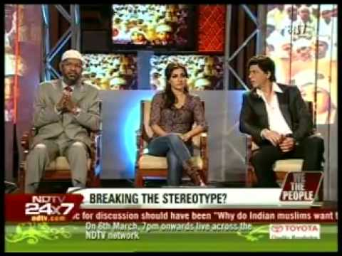 3.Dr. Zakir Naik, Shahrukh Khan, Soha Ali Khan on NDTV with Barkha Dutt