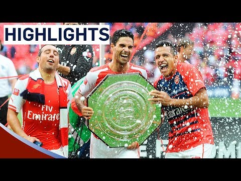 Arsenal 3-0 Manchester City - Community Shield 2014 | Goals & Highlights (видео)