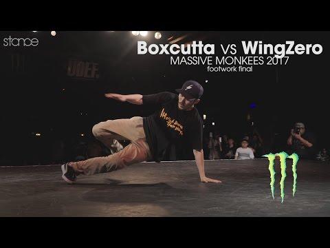 Boxcutta vs WingZero [footwork finals] // .stance // Massive Monkees 2017 - udeftour.org