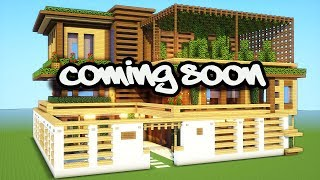 MINECRAFT: How to build a large wooden mansion - Tutorial Coming Soon!