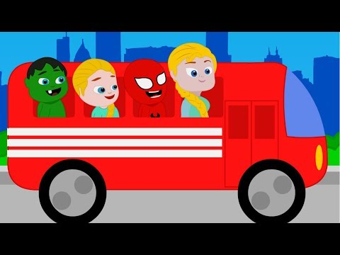 SUPERHERO BABIES & THE WHEELS ON THE BUS  Spiderman, Hulk & Frozen Play Doh Cartoons For Kids