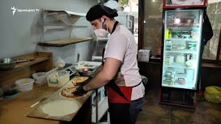 Each day, Elie's restaurant in Yerevan provides free meals for Artsakh refugees.
