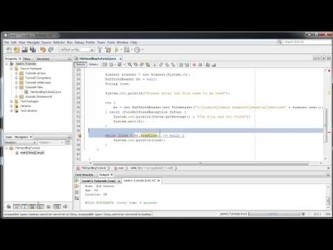 Java Tutorial 9 – Reading text files with BufferedReader
