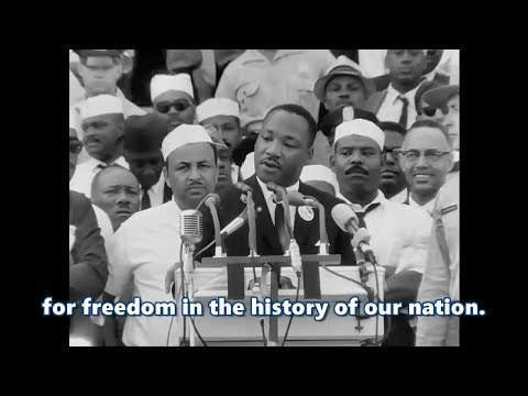 I Have a Dream speech oleh Martin Luther King .Jr HD (subtitle) (Remastered)