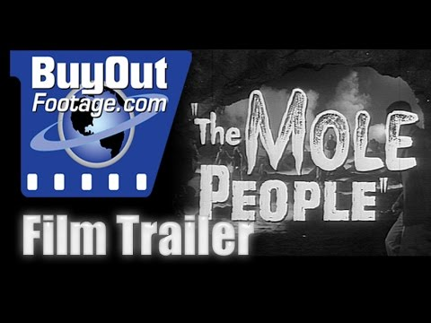 Horror Film Trailer - THE MOLE PEOPLE (1956)