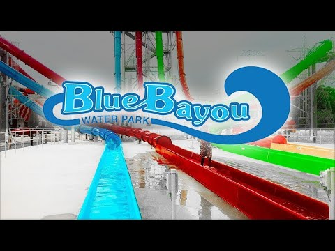 AWESOME ROLLER COASTERS & WATER SLIDES - Blue Bayou Dixie Landin' - Things to Do In Louisiana (видео)