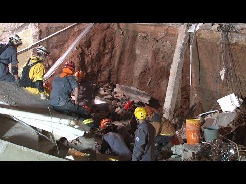 Igreja desmorona e deixa sete feridos em Diadema; veja vídeo