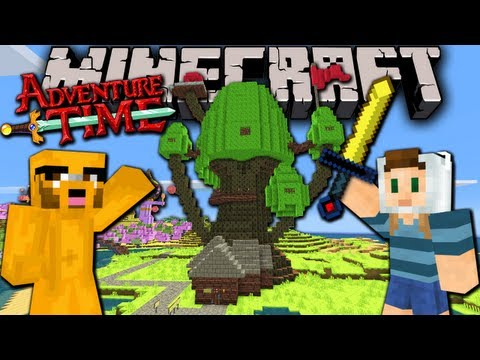 Minecraft: Adventure Time! Map Quest with Jake in Ooo - Ep.1 - Treehouse & Candy Kingdom