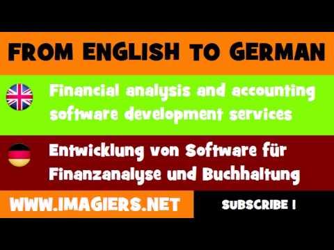 DEUTSCH   ENGLISCH  = Entwicklung von Software für Finanzanalyse und Buchhaltung