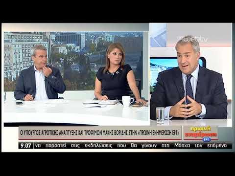 Μ. Βορίδης: Γίνεται προσπάθεια να μην αυξηθούν οι ασφαλιστικές εισφορές προς ΕΛΓΑ | 07/11/2019 | ΕΡΤ