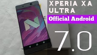 This is a quick video taking a look at the new official android 7.0 update for the sony xperia xa ultra