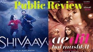 Shivaay VS Ae Dil Hai Mushkil | Public Review | B4U Entertainment