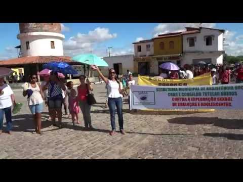Passeata contra a violência sexual a crianças e adolescentes Marcionílio Souza.wmv