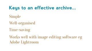 Second in the a series of clips on managing and organising your digital photos. In this video: how to create an archive that is simple, will save you loads of time finding images and allows you to process your shots with ease on bulk editing software such as Adobe Lightroom.http://www.sydneyportraits.com.au/http://www.greenwoodmedia.com.au