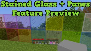 """Minecraft Xbox One + PS4 TU25 - Stained Glass + """"Stained Glass Panes"""""""