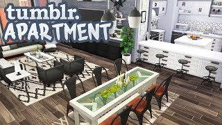 TUMBLR FAMILY APARTMENT 💙   The Sims 4   Apartment Renovation Speed Build