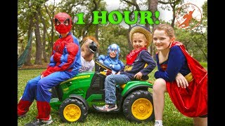 Video Little Superheroes Compilation Video - 1 Hour with Captain America, Supergirl, The Hulk & Batman MP3, 3GP, MP4, WEBM, AVI, FLV Maret 2018