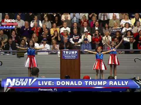 A bunch of kids performed a Donald Trump theme song and Just