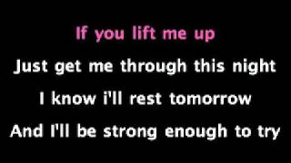 Lift me Up Christina Aguilera karaoke