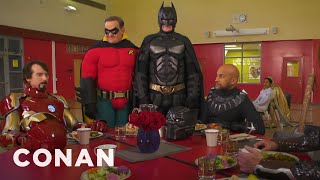 Video Batman Wants To Join The Marvel Universe  - CONAN on TBS MP3, 3GP, MP4, WEBM, AVI, FLV September 2018