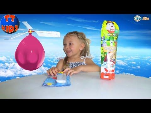 Ярослава открывает Киндер Сюрпризы. Яйца с Сюрпризами. Игрушки для детей. Кindеr Surрrisеs - DomaVideo.Ru