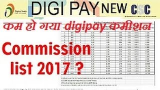 Apnacsc digital SEWA NEW REVISED Digi Pay new Commission list 2017