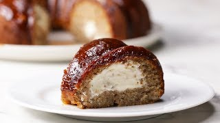 Cheesecake-Stuffed Banana Bread Ring by Tasty