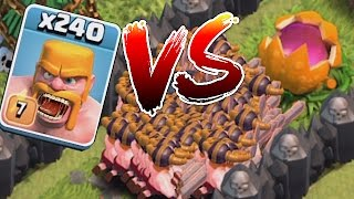 Video Clash Of Clans - SCARY PUMPKIN Vs. 240 BARBS!! (TROLL DEFENSE!!) MP3, 3GP, MP4, WEBM, AVI, FLV Juni 2017