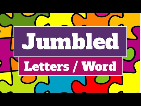 Jumbled Letter / Word | Rules for making meaningful word