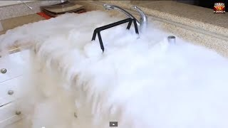 Very Cool Experiment With 2 Pounds Of Dry Ice
