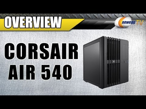 540 - Corsair Carbide Air 540 High Airflow Cube Case http://www.newegg.com | Case: http://bit.ly/15zi84w 11-139-022 Featuring a unique, dual-chamber design with a ...