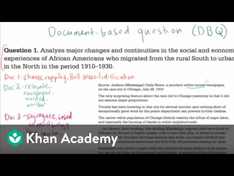 apush dbq sample