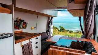 DIGITAL NOMAD'S Stunning SELF-BUILD With SOLAR POWERED Induction Cooker     Full-Time VANLIFE 💻� by Nate Murphy