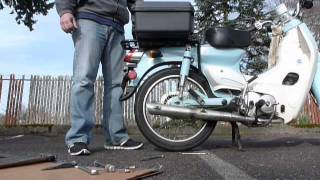 6. Rear Tire Change on a 2010 SYM Symba Part 1 of 2
