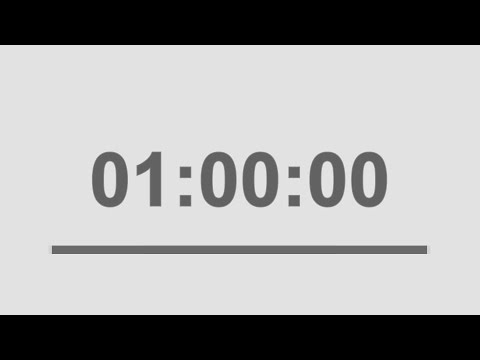 60 minute countdown timer with signal / 1 hour timer