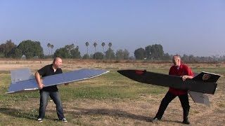 Giant Flying Paper Airplane Jousting