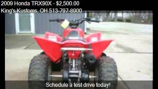 2. 2009 Honda TRX90X  for sale in Batavia, OH 45103 at the King