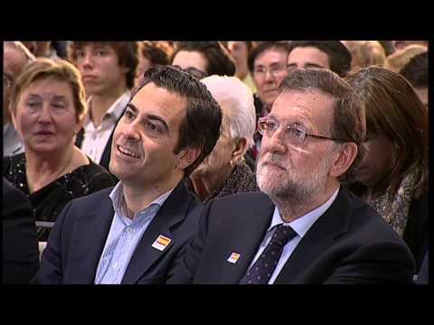 Rajoy asegura que luchará por una Navarra foral y española