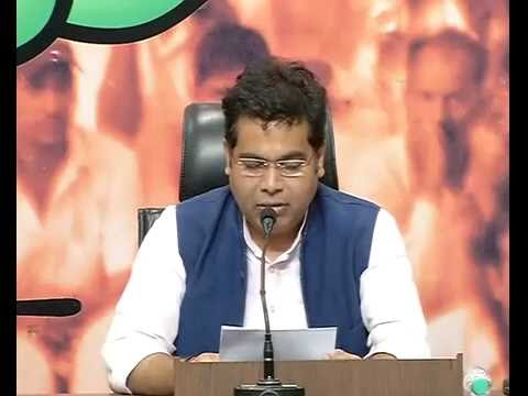 Press Conference by Pt. Shrikant Sharma at 11, Ashok Road, BJP HQ, New Delhi: 26.08.2016