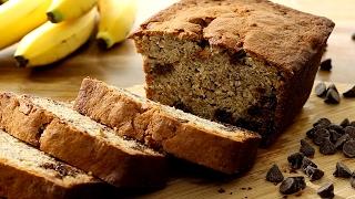 Pan de banana con chocolate